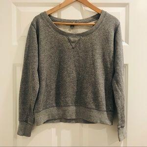 Forever 21 heather grey scoop neck sweatshirt